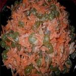 Фруктово – морковный салат с виноградом