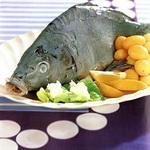 «Голубой карп» с отварным картофелем