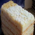 Пирог из творожных коржей, с заварным кремом
