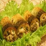 Рыбные рулеты с грибной начинкой