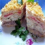 Закуска «Торт Наполеон»