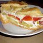 Пирог из кабачков с томатами