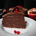 Блинчатый тортик с кремом «нутелла»