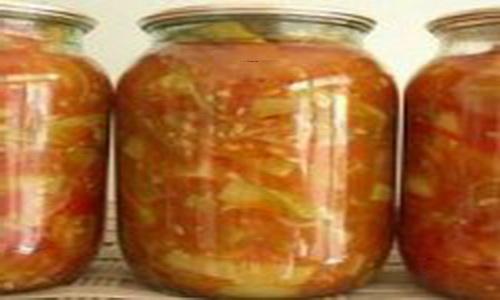 Кабачки в томатном соке и овощном фарше