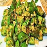 Теплый салат из жареных кабачков
