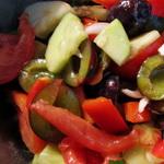 Яблочно – сливовый салат