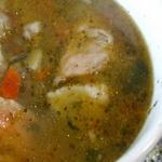 Густой рыбный суп в пост