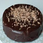 Шоколадный торт с ганашем