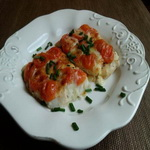 Закуска из скумбрии с помидорами