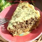 Открытый пирог с печенкой