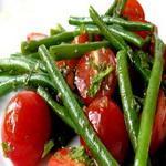 Стручковая фасоль в салатах