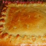 Пироги, выпекаемые на противне