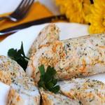 Колбаса из куриного филе с овощами
