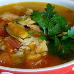 Суп с мидиями и рисом