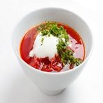 Свекольный суп с грибами
