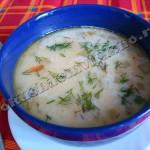 Сырный суп с фасолью