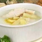 Суп из судака с молоком