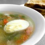 Овощной суп с гренками