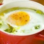 Яйца с луком-пореем
