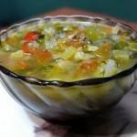 Суп с языком,фасолью и цветной капустой