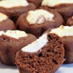 Шоколадные ватрушки с творожной начинкой