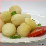 Картофельные клёцки со свининой