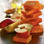Тыква – гриль с яблоками и карри