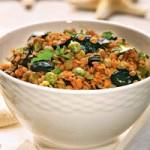 Греческий салат с чечевицей