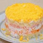 Салат «Мимоза» с рисом