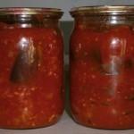 Закуска из баклажанов в томатном соке