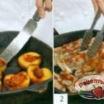Свиные рёбрышки в соусе из персиков