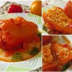 Перец, фаршированный рисом и морковью