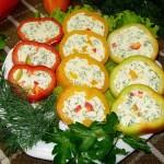 Перец, фаршированный сыром и творогом