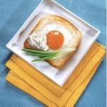 Яичница на тостах по – французски