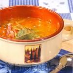 Сырный суп с окороком