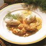 Клёцки из щуки, под соусом