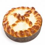 Пирог сдобный с творогом