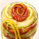Салат из груш и персиков