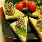 Бутерброды с паштетом из грибов