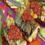 Рыба на вертеле, жаренная во фритюре