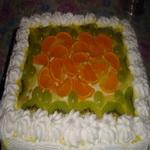 Торт песочный, с желе