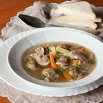 Грибной суп с мясными шариками