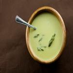 Суп-крем из спаржи, со сливками