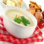 Крем-суп из сыра, с зеленью