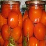 Консервированные помидоры (маринованные)