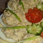 Закуска из фаршированных грибами яиц