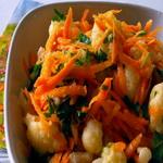 Салат из цветной капусты со свежими овощами