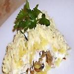 Селёдочка с  грибами, к водке