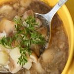 Суп из микса лесных грибов
