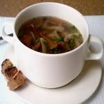 Грибной супец с гренками